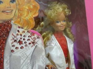 "SKIPPER/barbie nrfb JEWEL SECRETS,in ""leather skirt,jacket, red dress 1986 #3133"
