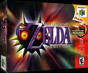 Brand New Never Used Zelda Majoras Mask N64 In Box