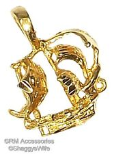 Pirate Ship Charm / Pendant EP Gold Plated with a Lifetime Guarantee