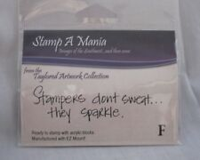 Stamp A Mania Taylored Artwork Collection STAMPERS SPARKLE Rubber Stamp  NEW