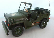 Tin Plate Model of a Vintage large Army Jeep /Green/ Ornament /Gift Boxed
