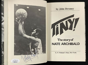 Nate Archibald Signed Book Tiny! HCB Basketball Boston Celtics Nets Auto HOF JSA