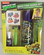 Teenage Mutant Ninja Turtles TMNT  Bath Time Play Shave Kit Foam Razor Brush ...