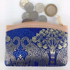 Purse silk coin women Thai clutch elephant handbag zip gift souvenir wallet bag