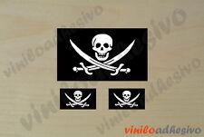 PEGATINA STICKER VINILO Bandera Pirata pirate flag autocollant aufkleber adesivi
