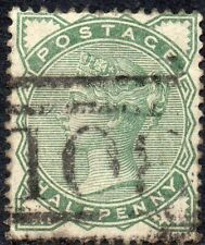 1880 Sg 164 ½d deep green with 108 Dumfries Duplex Cancellation Fine Used