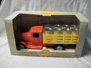 Gearbox ~ 1930's Shell Delivery Truck ~ Stamped Steel ~ Red and Yellow
