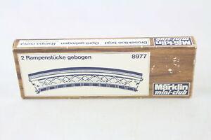 8977 Ramp Pieces Bent For Driveway Contents 2 Pc. Märklin Z Gauge Boxed + Top+