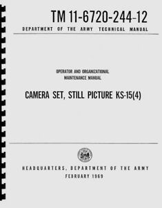 Leica U.S. Gov Still Picture Camera Set KS-15(4) Operation Maintenance Manual