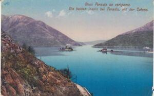 Ansichtskarte Jugoslawien Montenegro Perasto mit 2 Inseln 1914