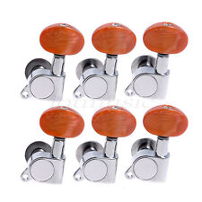 6L Acoustic Guitar Chrome Enclosed Machine Heads Tuning Pegs Tuner Keys Buttons