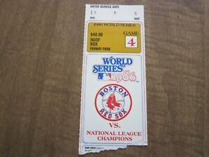 1986 Boston Red Sox World Series Ticket Stub