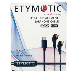 Etymotic ER Series MMCX to USB-C Replacement Earphone Cable with ESS Sabre DAC