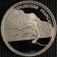 FRANCE 100 FRANCS ALBERTVILLE 92 SKI DE DESCENTE 1989 ARGENT