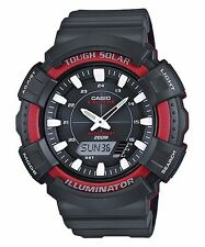 AD-S800WH-4A Red Casio Men's Watch Tough Solar Analog Digital 200m Plastic New