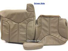 2000-2002 YUKON SIERRA LEATHER (BACK/BOTTOM/ARM) DRIVER SEAT COVER-TAN #522
