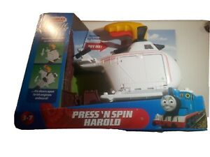 Thomas & Friends Trackmaster Press n' Spin Harold (Brand New)