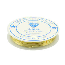Coloured Brass Wire Gold 9m x 0.5mm SS