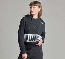 Womens Puma Urban Sport Full Zip Black Hooded Track Top