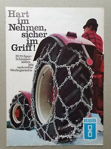 Rud Snowchain  4 pg leaflet/brochure 1970? In German