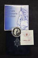 VATICANO 2007 10 EURO ARGENTO FS PP BE SILVER PROOF GIORNATA MISSIONARIA