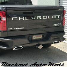Chrome Tone Tailgate Letter Inserts 2019 2020 Chevrolet Silverado 1500 2500 3500 (Fits: Chevrolet)