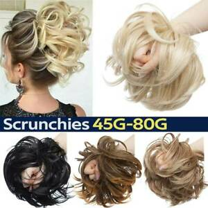 Gewellt Messy Dutt Haarverlängerung Haargummi Wrap on Bun Haarteil wie Echthaar