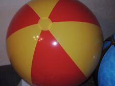 GELB ORANGEN Wasserball inflatable Pool Toy 108cm Flach Super weiches Vinyl