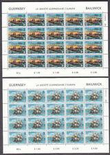 GUERNSEY 1982 EUROPA LA SOCIETE  SG254/255 IN SHEETLETS OF 20 U/MINT