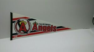 California Angels w/ Primary Halo Vintage 1986 Collectible Pennant
