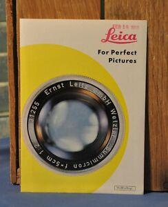 Vintage Collectible 1958 Leica Leitz Wetzlar M2 M3 Brochure Information