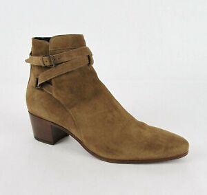 Saint Laurent Women's Brown Suede Blake 40 Jodhpur Ankle Boots 41.5 316237 9870