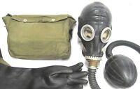 schwarze  Gasmaske  Gummi Latex Fetisch Pumpe Beatmungsbeutel Black Style Rubber