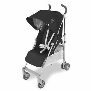 New Maclaren 2018 Quest Lightweight Stroller Black Silver New!