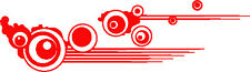 2 x Large Red Stripes vinyl graphics car side stickers decals bubbles customize