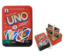 Juego de Cartas Uno Edición Caja Metálica 108 Cartas Juegos de Mesa Multijugador