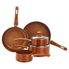 5 PCS URBN-CHEF Ceramic Copper Induction Cooking Pots Lid Saucepans Cookware Set