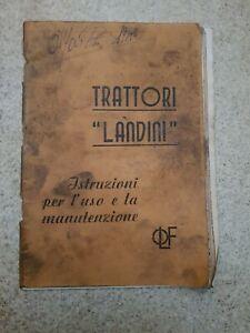 libretto uso e manutenzione per trattore landini testacalda velitè superlandini