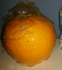 "Large orange Shaped camping outside bug Candle aprox 7 "" tall & 2"" tall wick"