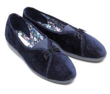 New Freestep Ladies Slippers Women's Low Top Maisie Navy Sizes UK 3 4 5 6 7 8