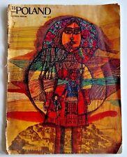 Vintage Poland Illustrated Magazine 06 1970 Poster Marian Stachurski In ENGLISH