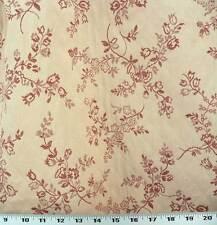 Cortinas Tela para Tapizar Bordado Acolchado Floral - Rosa Polvorienta