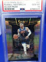 2018 Panini Select Russell Westbrook Silver  Prizm Psa 10 Rare Low Pop