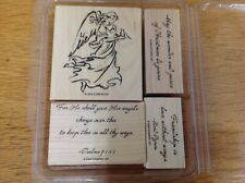 STAMPIN UP 2004 On Angel Wings Set of 4 Stamps Christmas