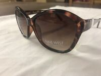 NEW Nine West Womens brown tortoise shell  Sunglasses cat eye trendy stylish  05