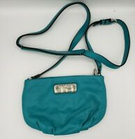Marc by Marc Jacobs Classic Q Percy Leather Crossbody Bag Highlighter Teal Blue