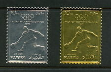 Fujeira 1972 #Mi1279A-80A  olympics tennis  SILVER & GOLD FOIL  2v.   MNH   H462