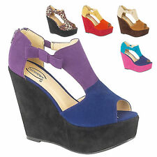 Wedge Peep Toes Suede Shoes for Women