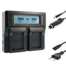 Akku Dual Ladegerät Charger für Sony NP-FW50 | 90336 | Sony Alpha a7 II a7R usw.
