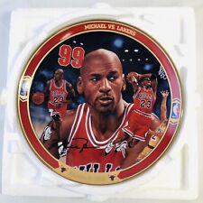 "Michael Jordan Bradford Exchange Collectors Plate #11 ""Michael Vs Lakers"" w/ COA"